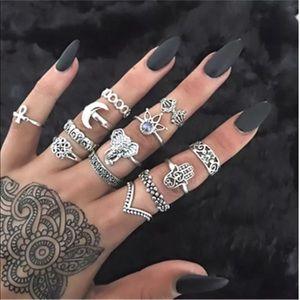 Jewelry - 13 pc. Boho Stacking Rings